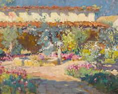 Mission San Juan Capistrano  by Colin Cambell Cooper  Giclee Canvas Print Repro