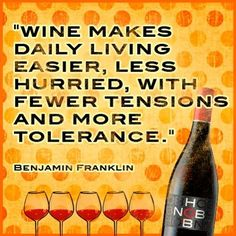Benjamin Franklyn's Quote about wine.