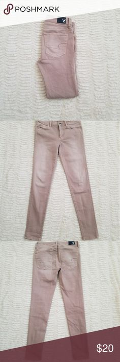America Eagle Jeans Ashy pink Inseam: 28in Rise: 8in Super super stretch  Jeggings American Eagle Outfitters Jeans