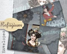 druckbare  Kuverts digitale Datei INSTANT von digitalRefugium, €3.90 Some Questions, This Or That Questions, I Gen, Collage Sheet, Envelopes, Create Your Own, Romance, Printables, Scrapbook