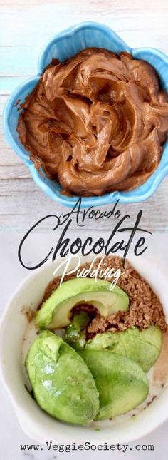 Raw Avocado Chocolate Pudding | Easy, vegan and raw chocolate avocado pudding recipe with maple syrup, cacao and vanilla. 5 simple ingredients, quick, plant-based, paleo and gluten-free. Simply the best!