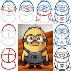 Como desenhar um Minion