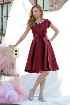 I adore this West End Dress Burgundy ~ Shabby Apple!