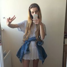 another tumblr girl outfit. super cute and trendy.