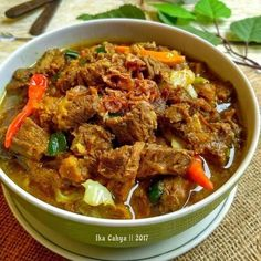 Indonesian Food, Curry, Food And Drink, Beef, Foods, Snacks, Baking, Ethnic Recipes, Instagram