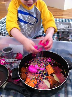 Play Create Explore: Pretend Cooking With Real Ingredients