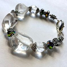 $15.00. GORGEOUS!!!!! Chunky clear glass nugget bracelet. I cannot believe this price. Wow.