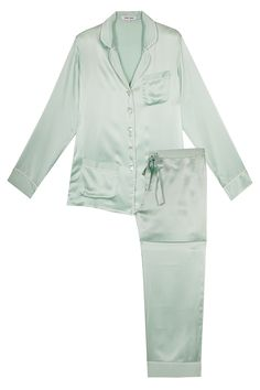 Pyjama- Coco Meadow Green by Olivia von Halle! Exquisite homewear and sleepwear inspired by the style of the Golden Twenties.