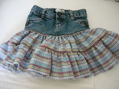 Small Fry & Co.: Little Girl Jean Skirt Tutorial. i've got a few pairs of kids jeans that could do with being turned into skirts!