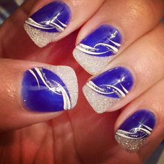 Nails, UK Wildcats,  Indianapolis Colts, blue, glitter Colts Nails, Football Nails, Hair And Nail Salon, Hair And Nails, Frozen Nails, Baby Pink Nails, Lotus Tattoo Design, Uk Nails, Gel Nagel Design