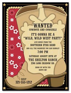 Cowboy Invitations Template | Best Template Collectkion