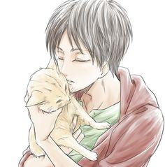 Eren Jaeger- He strikes me as a total animal lover. ^u^