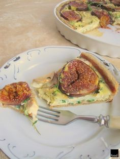 food²: Quiche with figues and goat cheese.