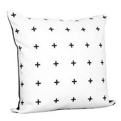 Cross Cotton Throw Pillow