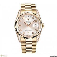 Rolex Day-Date 18K Yellow Gold Watch Model No. 118338 sdp