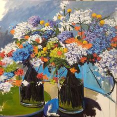 Jenn Hallgren is a Philadelphia Artist painting trees and gardens, landscapes, and still lifes with oil paint. Painting Trees, Artist Painting, Flower Show, Throw Rugs, Still Life, Accent Decor, Philadelphia, Landscapes, Gardens