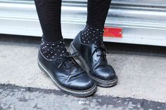 Dr Martens with polka dot socks