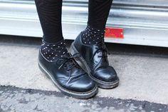 Dr Martens with polka dot socks