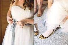 Love the sash and the sparkly shoes!  Photo by Gabe Aceves.