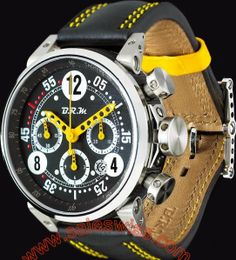 B.R.M G45 T Yellow Hands BRM-007 Mens Watch G45 T AJ ,Mens,B.R.M