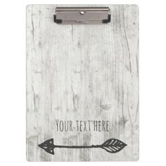Add your text wood w/ arrow clipboard - barn wedding gifts template diy customize personalize marriage