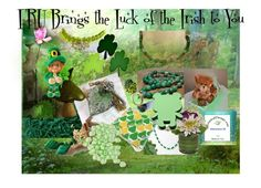 FRU Luck of the Irish by cindyanne-mroz-hernandez on Polyvore featuring polyvore, art and vintage