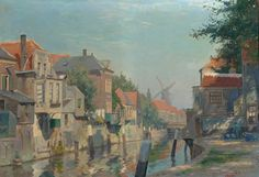 AAG Arts & Antiques Group (formerly Glerum) - Inner harbour of Gorkum Sol 11.28.2011 for $7,944 22 by 32 Oil on canvas