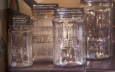 retro kitchen - vintage jars