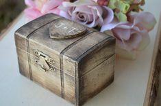 rustic ring box custom ring bearer box  by RedHeartCreations, $29.95
