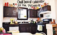 Chalkboard cabnets <3