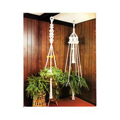 Vintage 70s Macrame Plant Hangers Wall Hangings Mobiles Macrame Project Booklet Macrame Images via Etsy