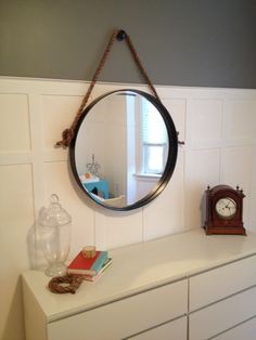 Hometalk :: DIY Restoration Hardware Knock Off Iron & Rope Mirror