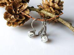 Náušnice křišťál, zapínáni z chirurgické oceli * Quartz Crystal earrings, surgical steel clasp Place Cards, Place Card Holders
