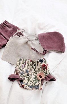 Handmade Floral Bloomers, Top & Bonnet | moonroomkids on Etsy