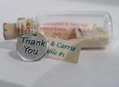 Place Card Message in a Bottle Favors from WeddingsAway on Etsy