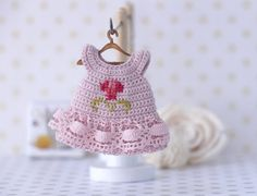 Hey, I found this really awesome Etsy listing at https://www.etsy.com/listing/263250164/4-inches-miniature-crocheted-dress-with