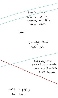 Should have included this in my lesson on parallel, intersecting, and perpendicular lines... (k, no, not really... but it did make me smile)