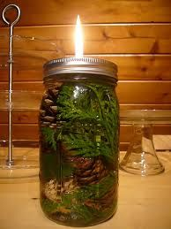 mason jar oil lamps - Google Search