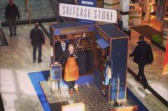 Redefining the Pop Up Store -   The Suitcase Store is a microshop designed like a trunk style suitcase.