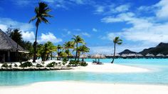 Tropical Beach Resort HD Wallpaper