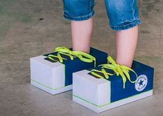 Tissue-Box Tennies: Here's a kids craft that teaches about the need for safe, comfortable shoes — something children in poverty often lack.