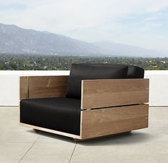 """Overall: 33""""W x 33""""D x 21""""H Seat: 5½""""H (15½""""H with cushion) Paros Lounge Chair"""