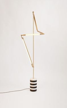 HelixFloorStriped Lamp by Bec Brittain