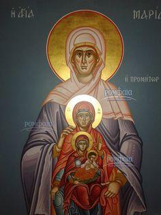 An Icon of Christ's Maternal Lineage Orthodox Prayers, Orthodox Catholic, Catholic Art, Religious Art, Byzantine Icons, Byzantine Art, Writing Icon, Catherine Of Alexandria, Greek Icons