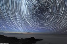 Star trails. Alex Cherney's 18 month time lapse photography of the galaxy from the Southern tip of Australia.