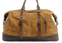 Mens Waxed Large Canvas Weekender Bag Canvas Travel Bag Canvas Overnight Bag for Men - Men's style, accessories, mens fashion trends 2020 Canvas Weekender Bag, Canvas Travel Bag, Piercings, Mens Style Guide, Moda Emo, Large Canvas, Custom Bags, Long Wallet, Leather Purses