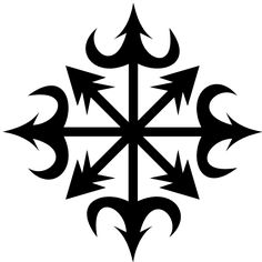 Star of Ishtar used for Chaos Star, Symbol of chaos MAGIC - everything has… Meaning Of Chaos, Star Meaning, Energy Symbols, Magic Symbols, Star Of Ishtar, Chaos Tattoo, Ink Logo, Chaos Magic, Chest Piece