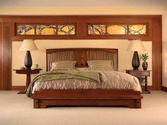 Stickley Furniture- Spindle Platform Bed, Pasadena Bungalow Collection