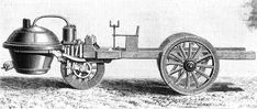 "The ""Fardier"", the first self propelled vehicule, invented by French Army Captain Cugnot in the 18th century. He was one of the first to successfully employ a device for converting the reciprocating motion of a steam piston into a rotary motion by means of a ratchet arrangement. A small version of his three-wheeled fardier à vapeur (""steam dray"") was made and used in 1769 (a fardier was a massively built two-wheeled horse-drawn cart for transporting very heavy equipment, such as cannon…"