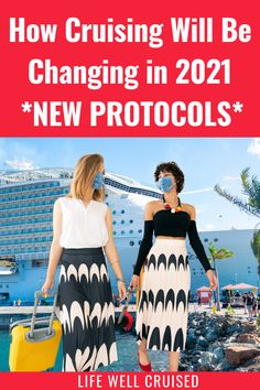 We all know that cruises will be changing in 2021, with new safety and health protocols. Here are the confirmed changes that you need to be aware of. Cruise Port, Cruise Vacation, Cruise Packing Tips, Best Cruise Ships, Cruise Reviews, Cruise Outfits, Health And Safety, Cruises, First Time